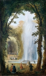 Robert, Hubert - The fountain in the Grove of the muses at the Chateau de Marly