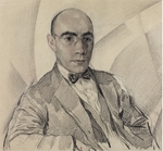 Chekhonin, Sergei Vasilievich - Portrait of the artist and the photographer Miron Sherling (1880-1958)