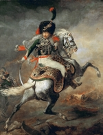 Géricault, Théodore - An Officer of the Imperial Horse Guards Charging