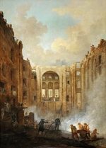 Robert, Hubert - Fire at the Opera House of the Palais-Royal in 1781