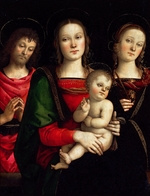 Perugino - Madonna and Child with Saints Catherine of Alexandria and John the Baptist