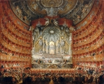 Pannini (Panini), Giovanni Paolo - Musical feast given by the cardinal de La Rochefoucauld in the Teatro Argentina in Rome in 1747