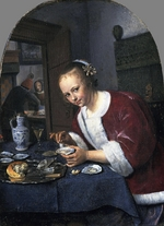 Steen, Jan Havicksz - Girl with oysters