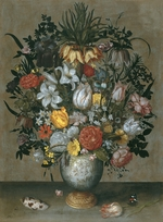 Bosschaert, Ambrosius, the Elder - Chinese Vase with Flowers, Shells and Insects