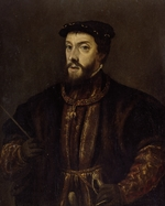Titian, (School) - Portrait of Charles V of Spain (1500-1558)