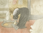Toulouse-Lautrec, Henri, de - Woman at the Tub (from the Elles suite)