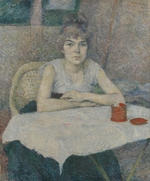 Toulouse-Lautrec, Henri, de - Young woman at a table (Poudre de riz)