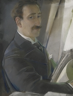 Chekhonin, Sergei Vasilievich - Portrait of the painter Léon Bakst (1866-1924)