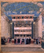 Coxcie (Coxie), Michiel - The throne hall of the castle in Binche