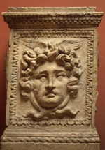 Antique Art - Altar with Head of Medusa