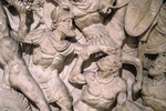 Art of Ancient Rome, Classical sculpture - The Battle of Adrianople in 378 (Relief of a sarcophagus)