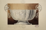 Carl Edvard Bolin company - Design of a Bowl Decorated with the Double-Headed Eagle. (Series The Dowry of Grand Princess Maria Pavlovna)