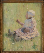 Cassatt, Mary - Girl playing with a ball of wool