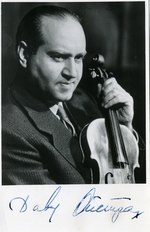Anonymous - Portrait of the violinist David Oistrakh (1908-1974)
