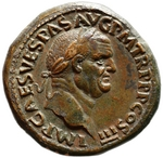 Numismatic, Ancient Coins - Sestertius of Vespasian