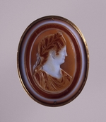 Classical Antiquities - Portrait of Agrippina the Younger (Agrippina Minor), Wife of the Emperor Claudius. Cameo