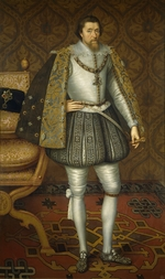 De Critz (Decritz), John, the Elder - Portrait of King James I of England (1566-1625)