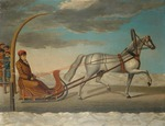 Anonymous - Count Alexey Grigoryevich Orlov of Chesma on a horse drawn sledge