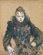 Toulouse-Lautrec, Henri, de - Woman with a Black Boa