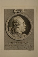 Saint-Aubin, Augustin, de - Portrait of the singer and composer Pierre de Jélyotte (1713-1797)
