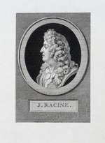 Saint-Aubin, Augustin, de - Portrait of the poet Jean Racine (1639-1699)