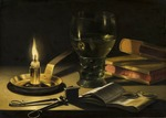 Claesz, Pieter - Still Life with a Lighted Candle