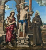 Lippi, Filippino - The Saints Sebastian, John the Baptist and Francis of Assisi