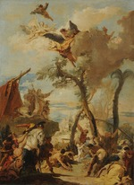 Tiepolo, Giambattista - The Israelites gathering Manna