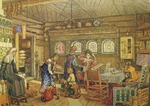 Vasnetsov, Appolinari Mikhaylovich - Gornitsa (living chamber) in an Old Russian House of the 16th-17th century