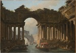 Robert, Hubert - Architectural Caprice with a Canal