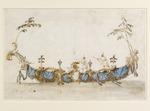 Guardi, Francesco - Design for a Bissona, with two gondoliers in Chinese dress