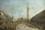 Guardi, Francesco - Doge Alvise IV Mocenigo appears on St. Mark's Square