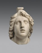 Art of Ancient Rome, Classical sculpture - Head of Achilles (Roman copy from a Greek Original)
