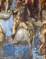 Buonarroti, Michelangelo - Saint Bartholomew displaying his flayed skin. Detail of the fresco The Last Judgement on the wall in Sistine chapel