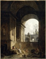 Robert, Hubert - View of the Capitol With the Equestrian Statue of Marcus Aurelius