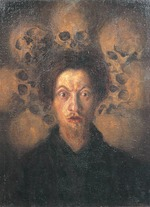 Russolo, Luigi - Self-portrait with skulls (Autoritratto con teschi)