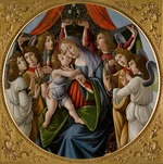 Botticelli, Sandro - Madonna and Child with Six Angels