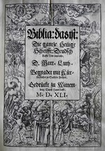 Cranach, Lucas, the Younger - Cover design Biblia by Martin Luther