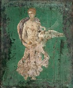 Roman-Pompeian wall painting - Leda and the Swan