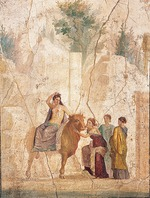 Roman-Pompeian wall painting - The Rape of Europa