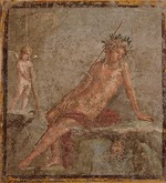 Roman-Pompeian wall painting - Narcissus