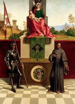 Giorgione - Madonna and Child Between Saints Francis and Nicasius (Castelfranco Madonna)