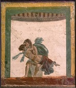 Roman-Pompeian wall painting - Amor and Psyche