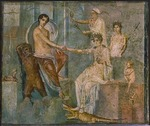 Roman-Pompeian wall painting - Jupiter and Io