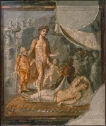 Roman-Pompeian wall painting - Ariadne Abandoned by Theseus on Naxos