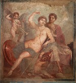 Roman-Pompeian wall painting - Mars and Venus