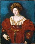 Rubens, Pieter Paul - Portrait of Isabella d'Este (1474-1539) in Red. After Titian