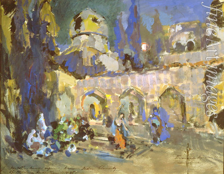 Korovin Konstantin Alexeyevich - Dance. Stage design for the ballet Hunchback horse by C. Pugni