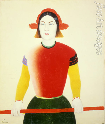 Malevich Kasimir Severinovich - A Girl With A Red Pole