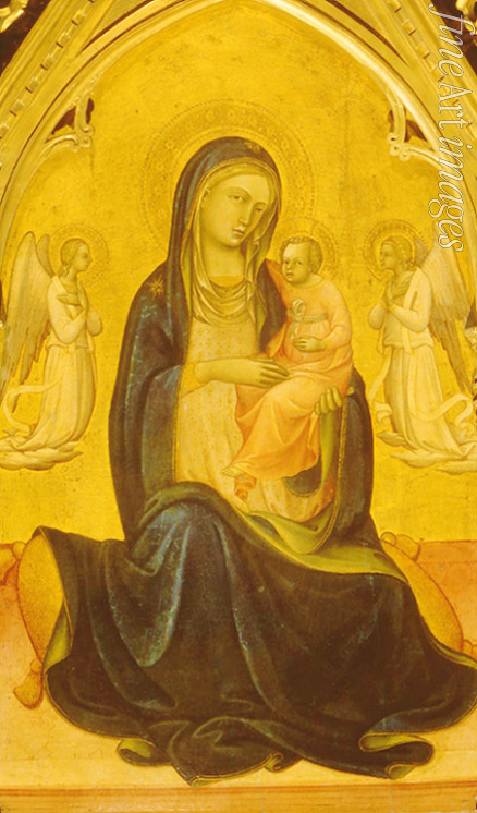 Lorenzo Monaco - The Virgin and Child with Angels (Madonna of Humility)